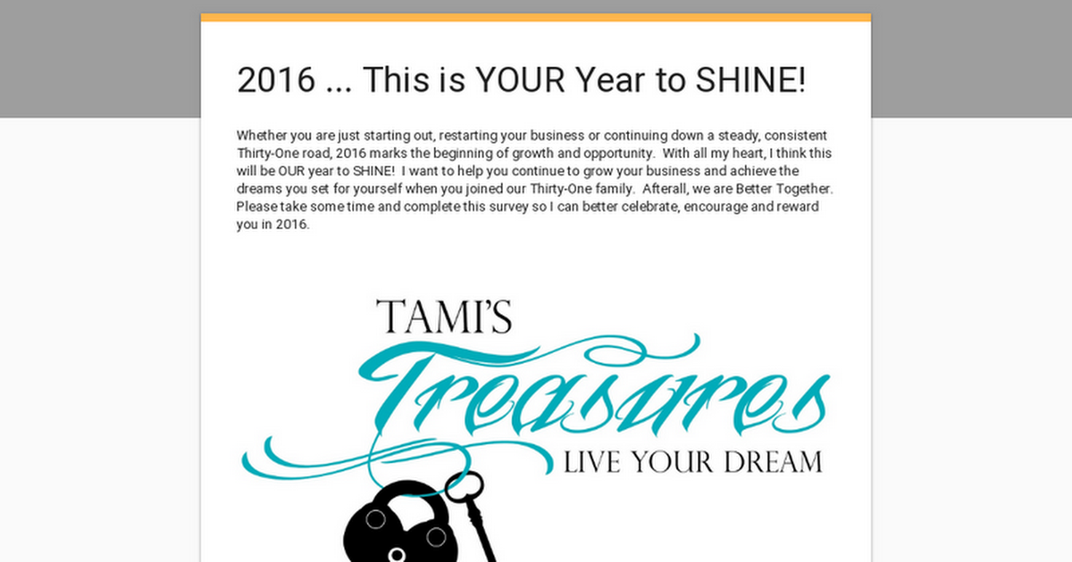 2016 ... This is YOUR Year to SHINE!