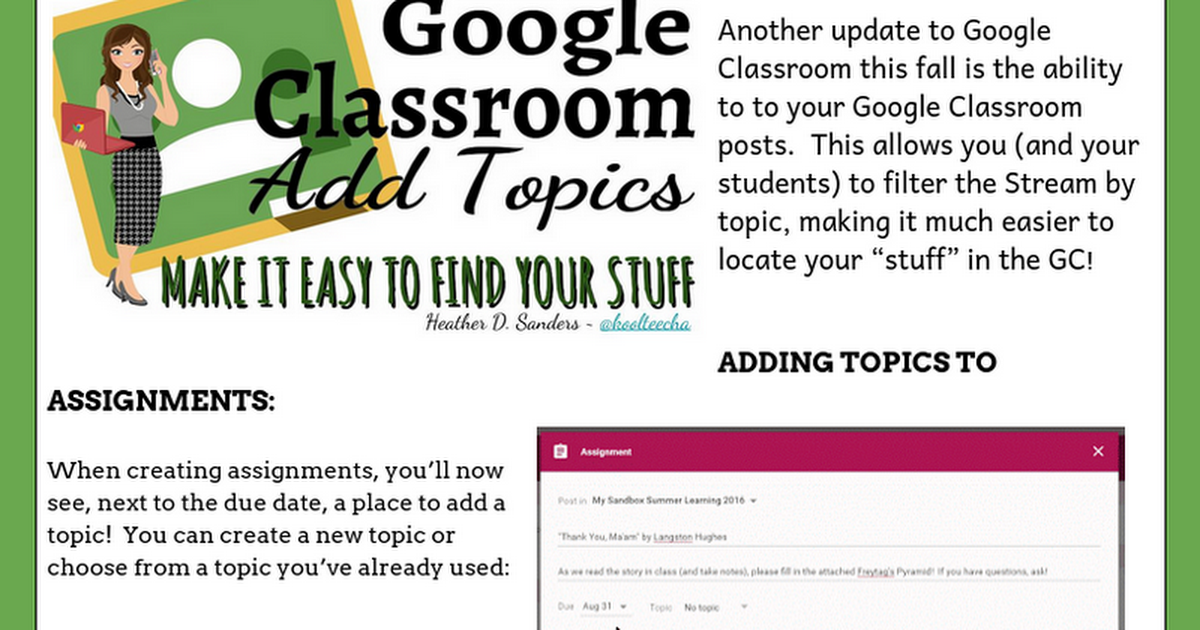 Google Classroom - Topics: Make it Easy to Find Your Stuff