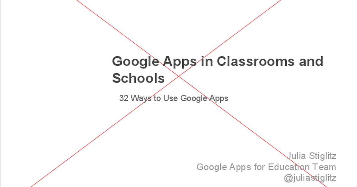 32 Ways to Use Google Apps in the Classroom