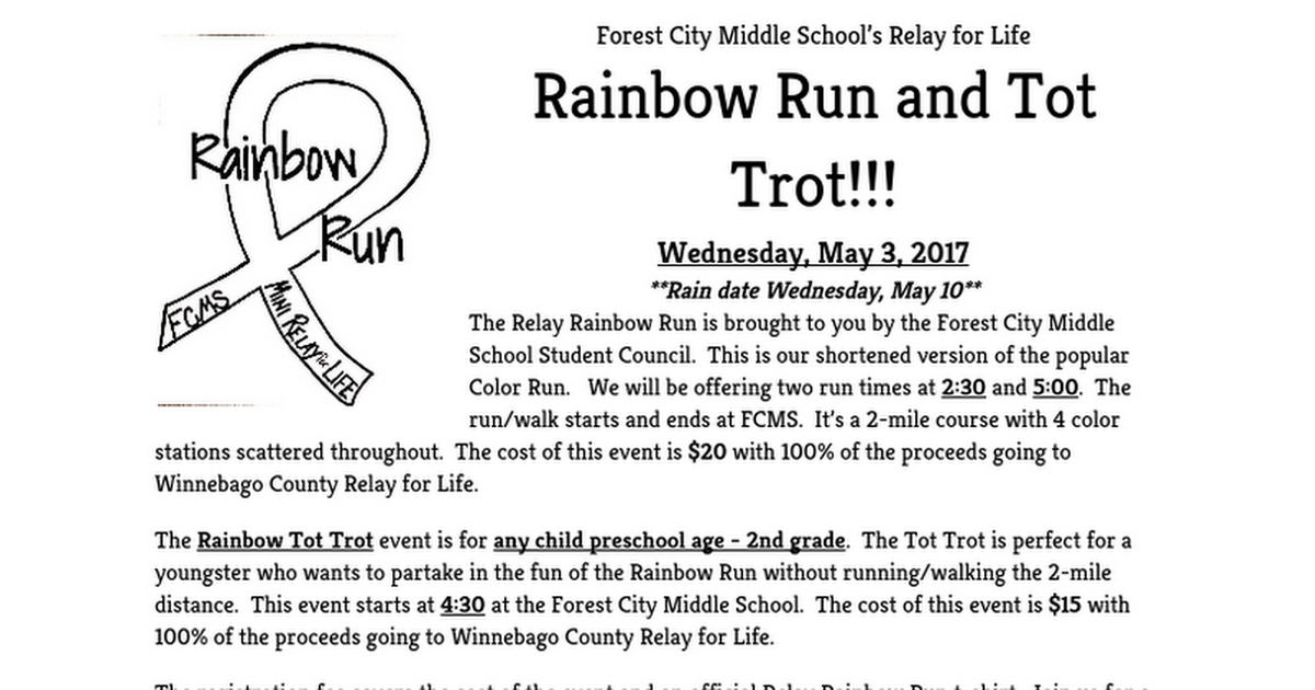 Relay Rainbow Run Registration Form-2017