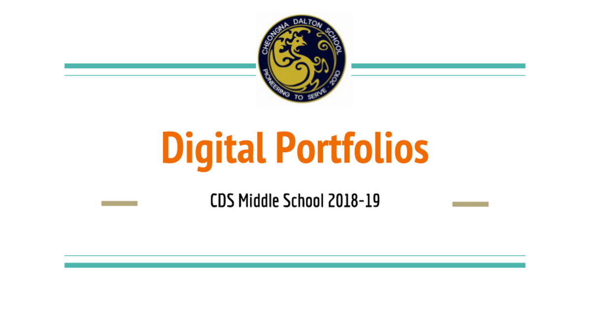 Parent Information Session_Digital Portfolios 2018-19