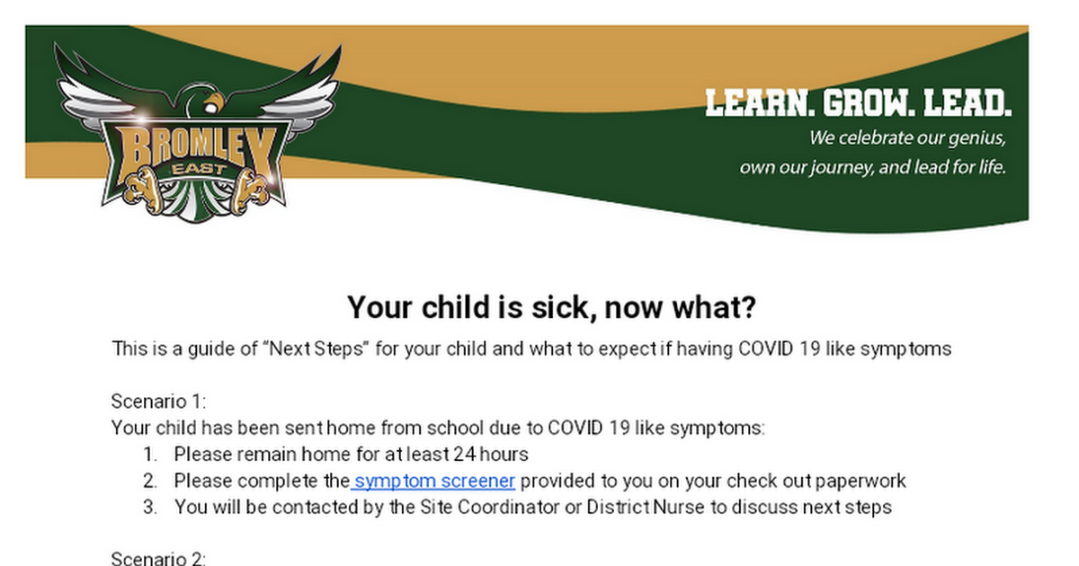 Your child is sick, now what?