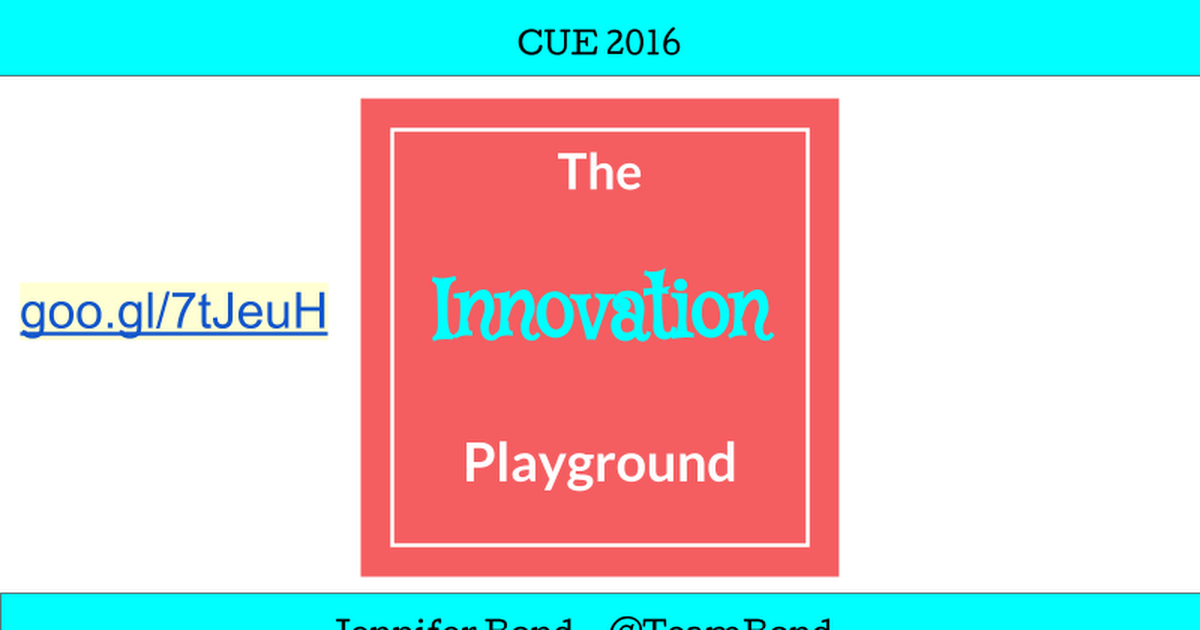 Innovation Playgound