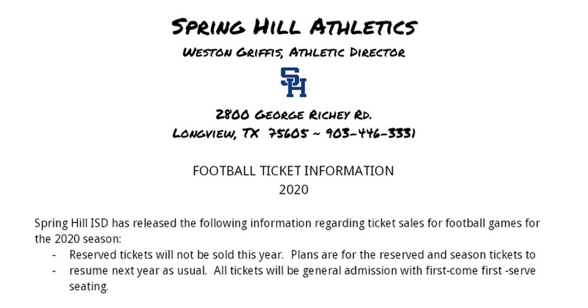 Football Tickets 2020