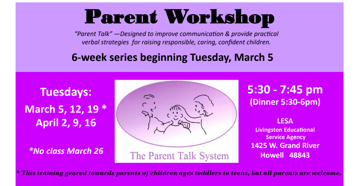 Flyer - Parent Talk Spring 2019.pdf