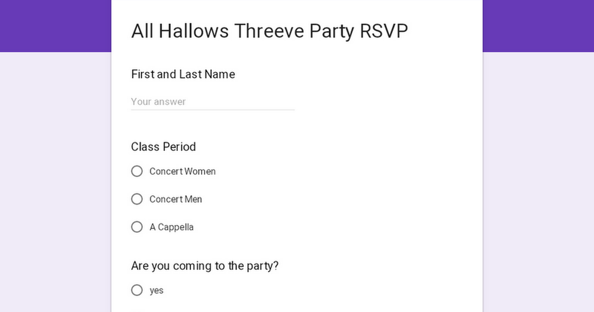 All Hallows Threeve Party
