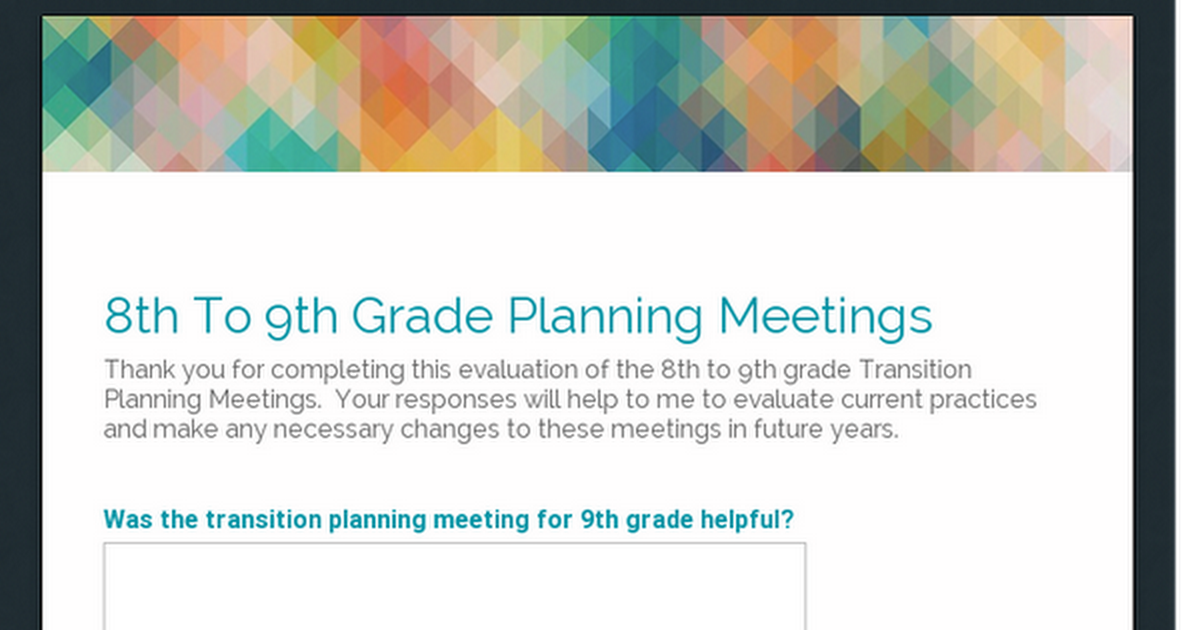 8th To 9th Grade Planning Meetings