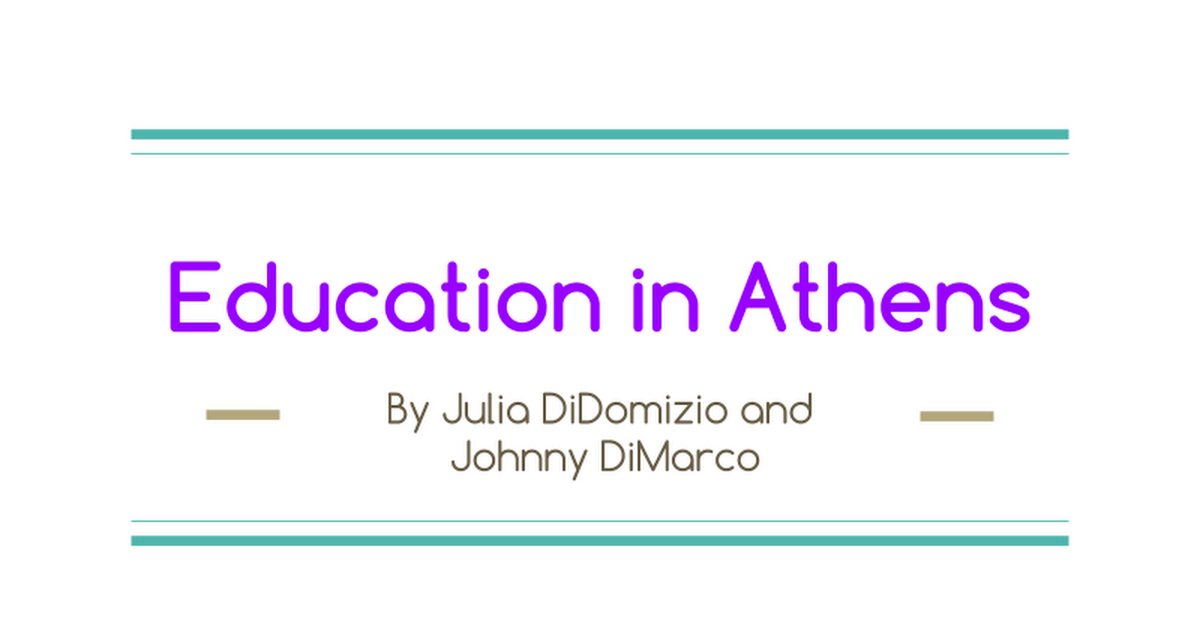 Education in Athens