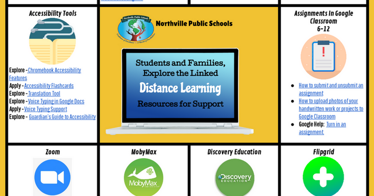 NPS Distance Learning Board (Parent Portal)