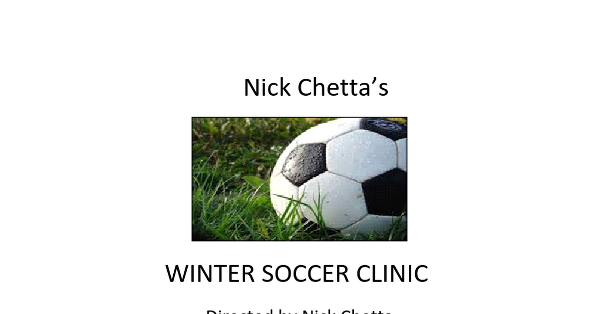 Winter Soccer CLINIC.docx