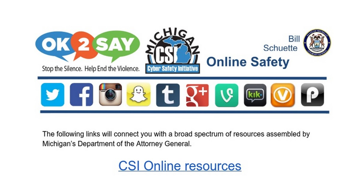 Cyber Safety Parent resource page