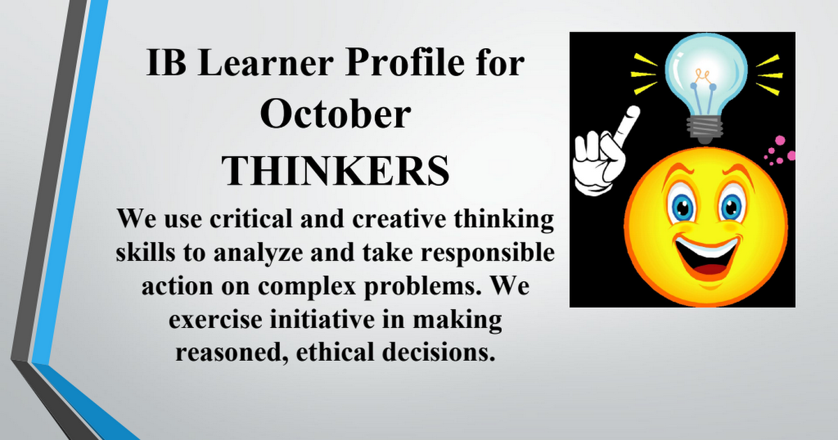 Learner Profile-Thought for week and vocab October 26-30.pptx