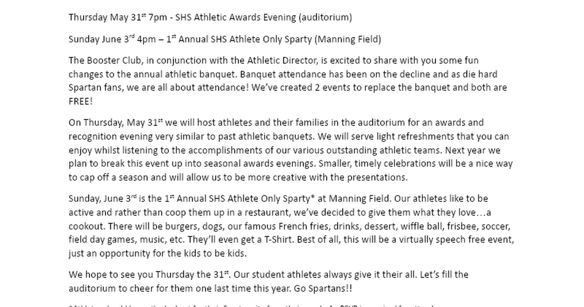 News from the Scituate Athletic Booster Club.docx