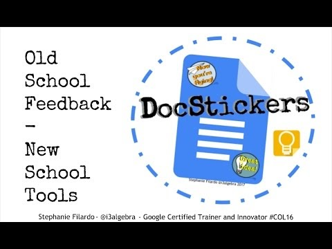 DocStickers: A Docs + Keep Integration for Old School feedback