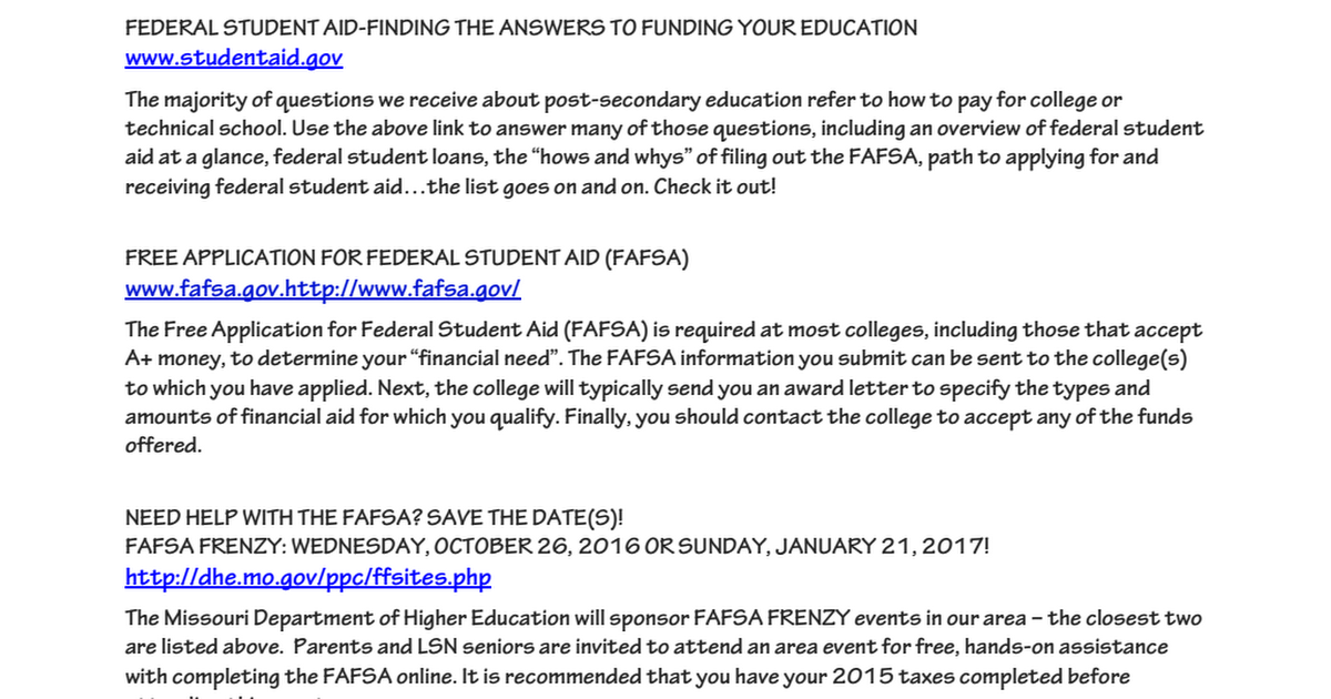 FA and College reminders for Seniors 2016-17.pdf