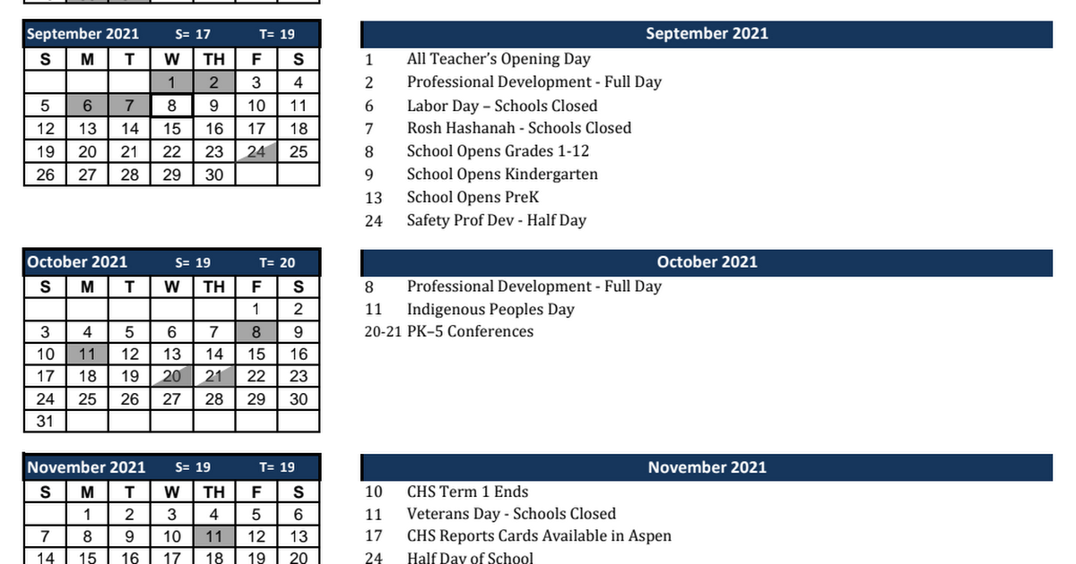 2021-2022 Cohasset Public Schools Calendar - Approved by SC 4.28.2021.pdf