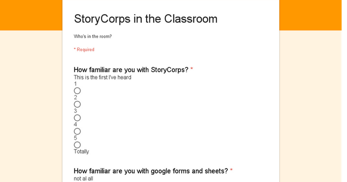 StoryCorps in the Classroom