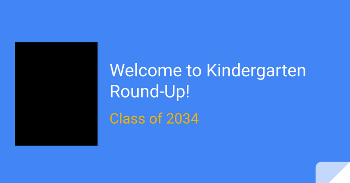 Lowell Kindergarten Round-up 2019