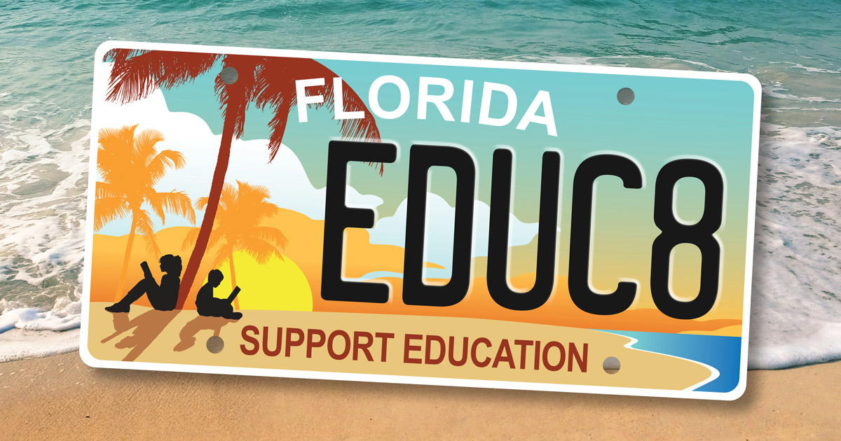 The New Support Education Specialty Plate is Available Now