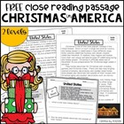FREE Christmas in the United States - Close Reading