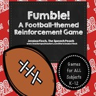 FREEBIE: Football-themed Fumble! Reinforcement Game