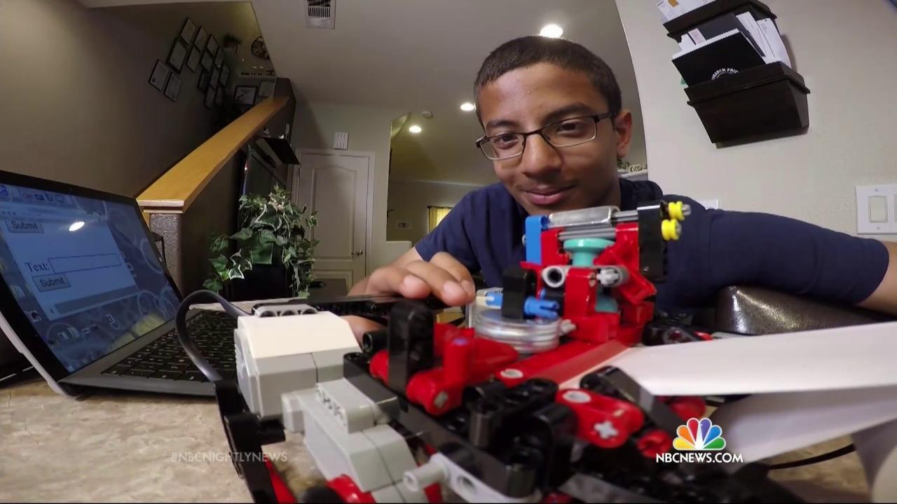 Boy Invents Low-Cost Braille Printer Made of Legos for Blind - NBC News
