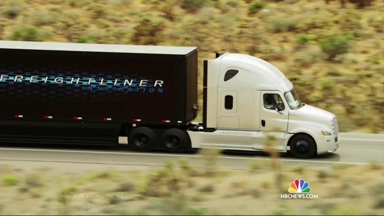 Hitting the Road: Daimler Reveals Self-Driving Semi-Truck - NBC News