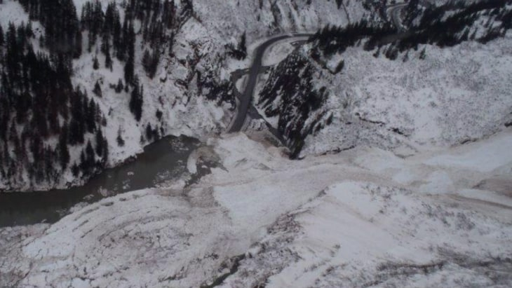 Huge Avalanche Buries Alaska Highway