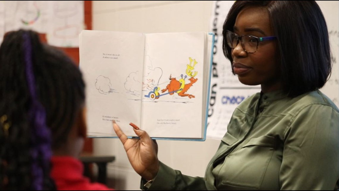 Volunteers celebrate Dr. Seuss with Read Across America Day