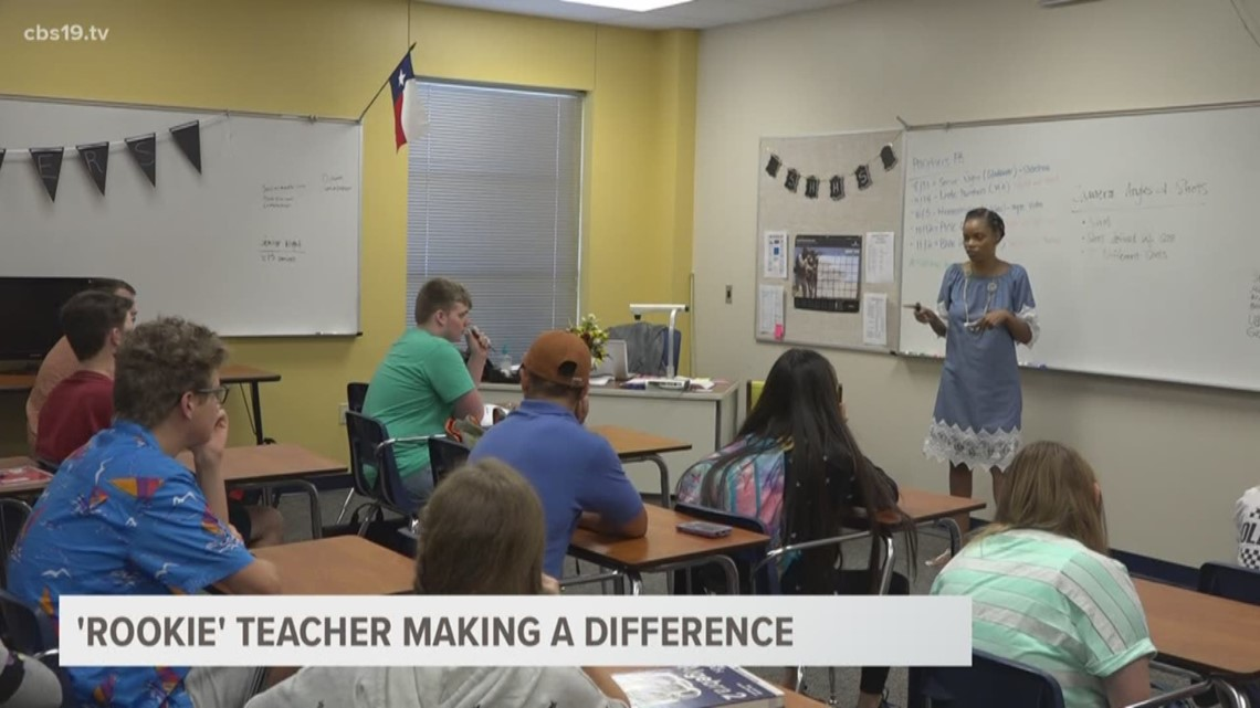 'Rookie' teacher making a difference