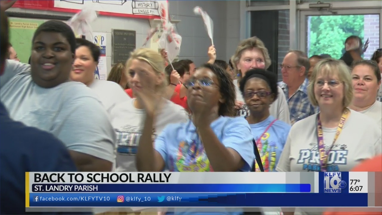 St. Landry Parish schools hold rally to begin school year