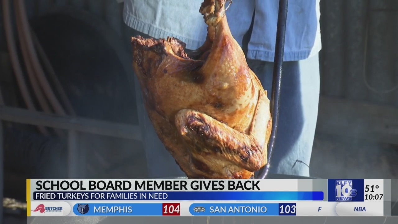 School Board member fries turkeys with a purpose
