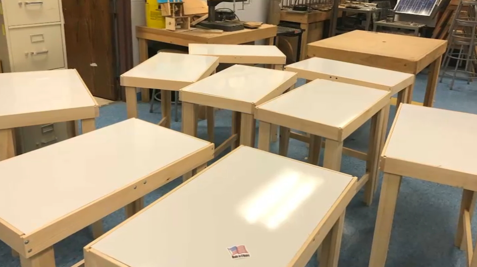 More Than Furniture: Some Districts Providing School Desks for Remote Learners