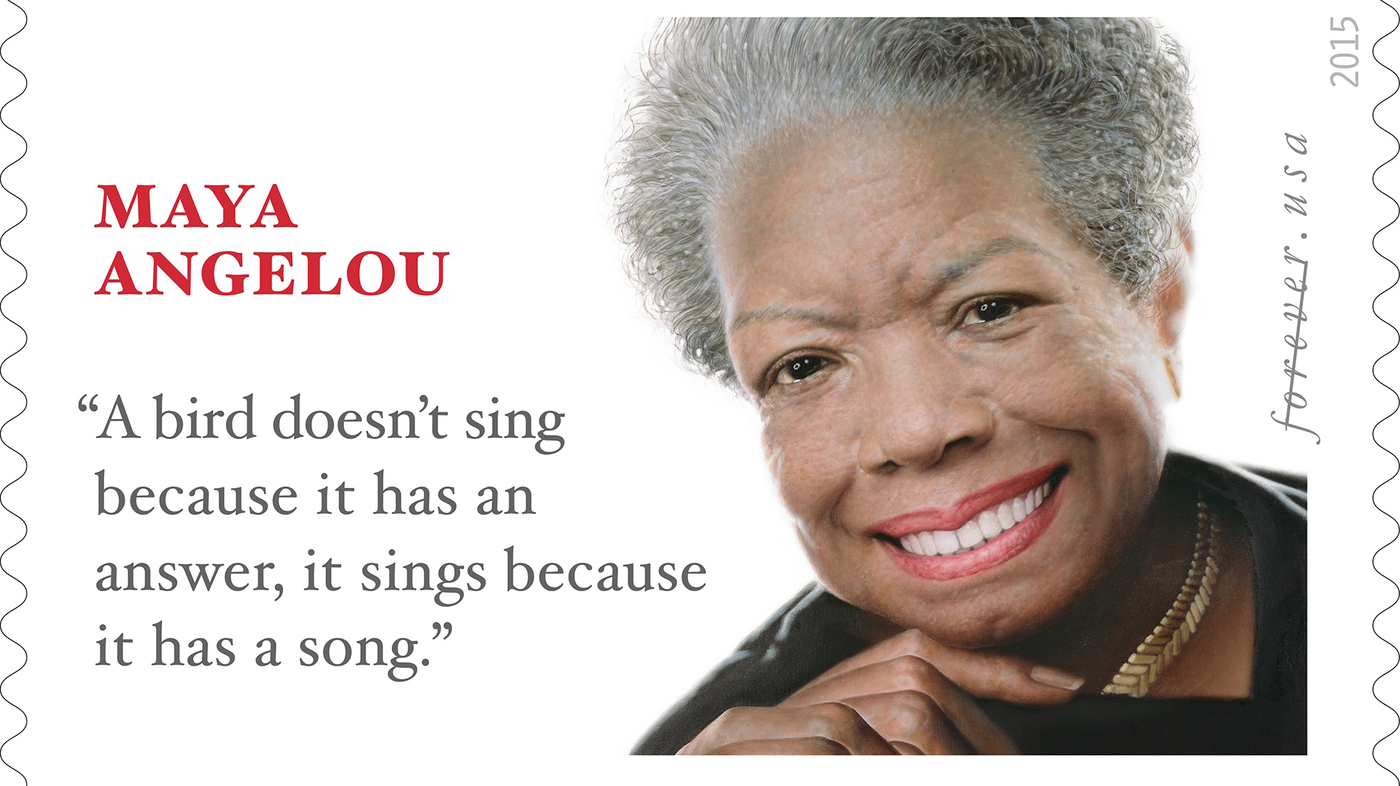 USPS Picks Perfect Line For Maya Angelou Stamp — If Only It Were Hers