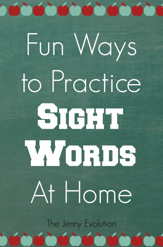 Fun Ways to Practice Sight Words at Home