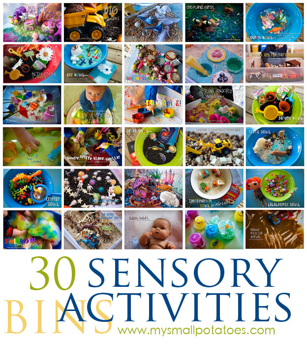 30 Sensory Bin Activities for Kids…A Small Potatoes Sensory Round-Up!