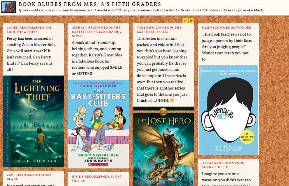 High Tech Student to Student Book Recs by Katherine Sokolowski