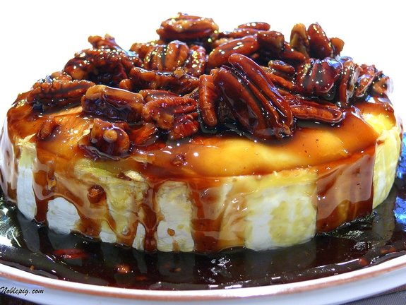 Kahlua-Pecan-Brown Sugar Baked Brie