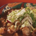 Red Pozole with Traditional Garnishes