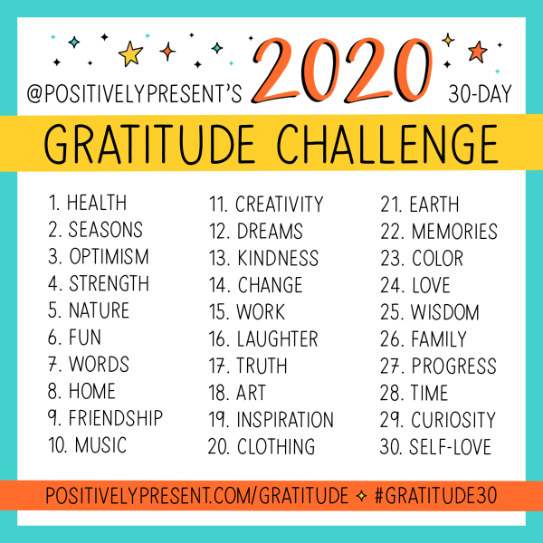 The 10th Annual Gratitude Challenge!