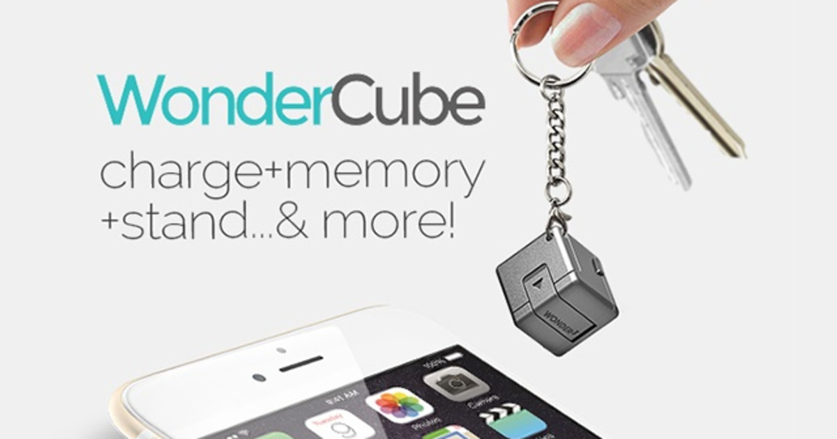 CLICK HERE to support WonderCube:  8 mobile essentials in One Cubic Inch