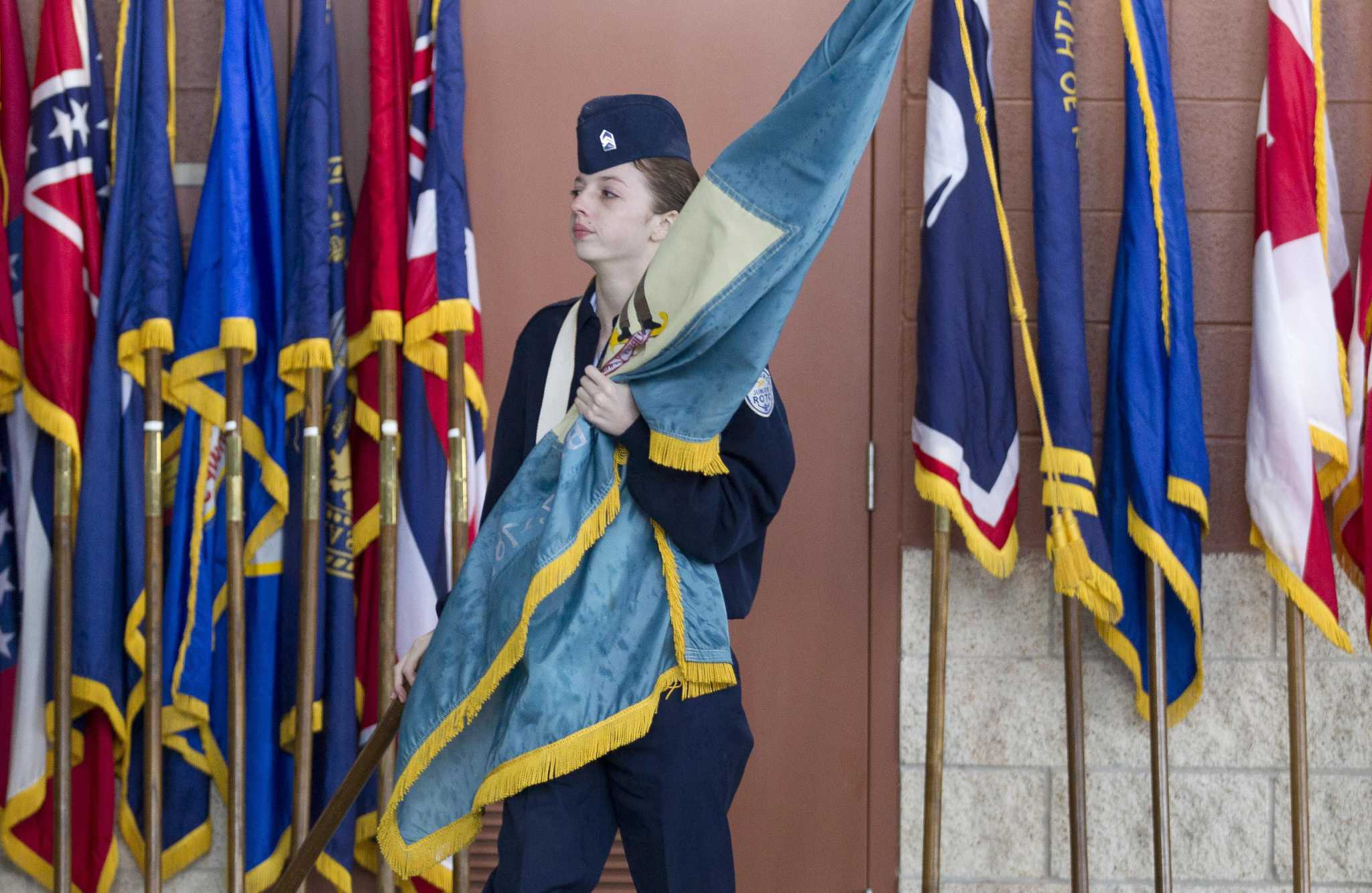 Conroe ISD event salutes veterans with pomp