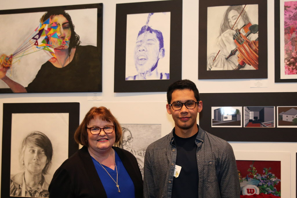 Gold Key exhibit showcases student work