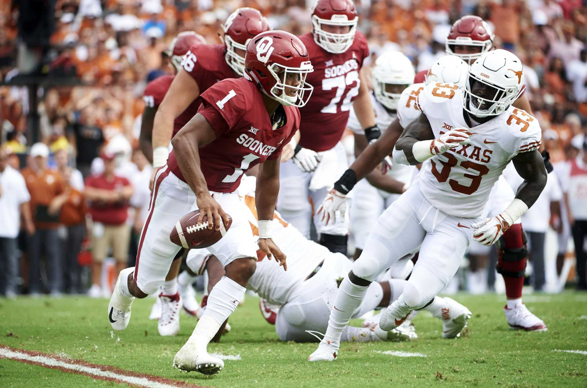 Longhorns brace for round 2 with Sooners' prolific offense