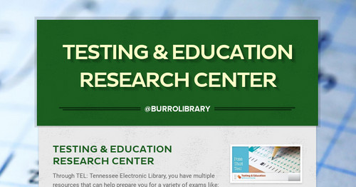 Testing & Education Research Center