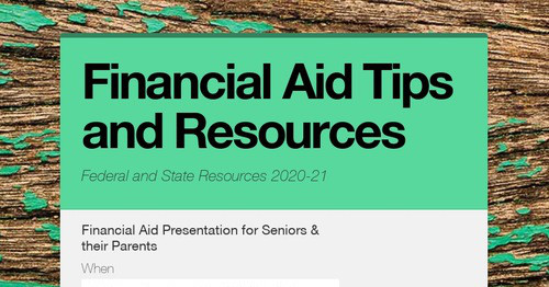 Financial Aid Tips and Resources