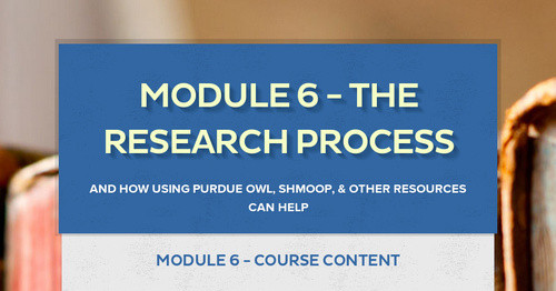 Module 6 - The Research Process