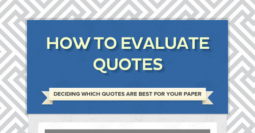 How to Evaluate Quotes