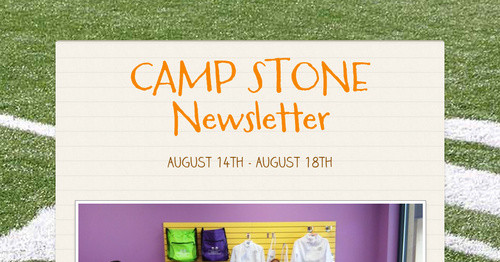 CAMP STONE Newsletter