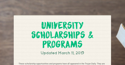University Scholarships & Programs